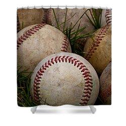 Baseballs Shower Curtain by David Patterson