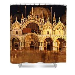 Basilica Di San Marco Shower Curtain by George Buxbaum