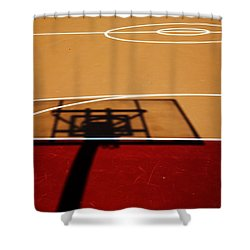 Basketball Shadows Shower Curtain by Karol Livote