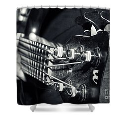 Bass  Shower Curtain by Stelios Kleanthous