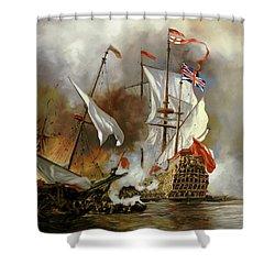 Battaglia Sul Mare Shower Curtain by Guido Borelli