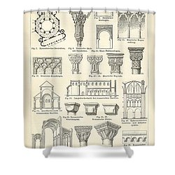 Baustile I And Baustile II Shower Curtain by German School