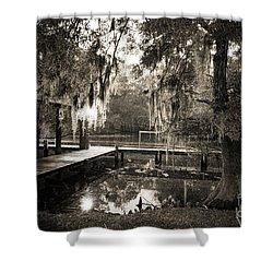 Bayou Evening Shower Curtain by Scott Pellegrin