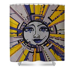 Bazinga - Sun Shower Curtain by Grace Liberator