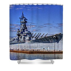 Bb-60 Uss Alabama Shower Curtain by Barry Jones