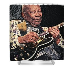 B.b. King II Shower Curtain by Taylan Apukovska