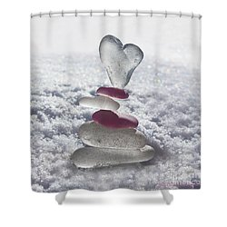 Be Careful With My Heart Shower Curtain by Barbara McMahon