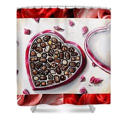 Be My Valentine Shower Curtain by Shana Rowe Jackson
