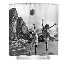 Beach Ball Dancing Shower Curtain by Underwood Archives