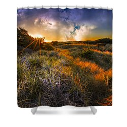 Beach Dunes Shower Curtain by Debra and Dave Vanderlaan