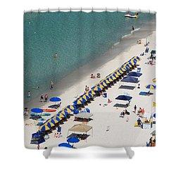 Beach Life  Shower Curtain by Jennifer E Doll