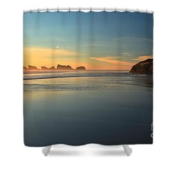 Beach Rudder Shower Curtain by Adam Jewell