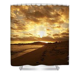 Beach Sunset Shower Curtain by Cheryl Young