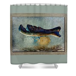 Beached Whale II Shower Curtain by WB Johnston