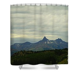 Beartooth Mountain Montana Shower Curtain by Jeff Swan