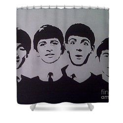 Beatles Shower Curtain by Tamir Barkan
