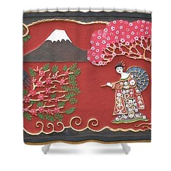 Beautiful Japan Shower Curtain by Otil Rotcod