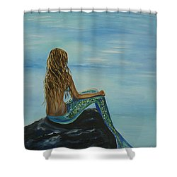 Beautiful Magic Mermaid Shower Curtain by Leslie Allen