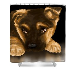 Beautiful Puppy Shower Curtain by Veronica Minozzi
