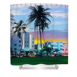 Beautiful South Beach Shower Curtain by Jon Neidert