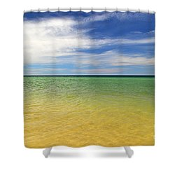 Beautiful St George Island Water Shower Curtain by Holden Parker