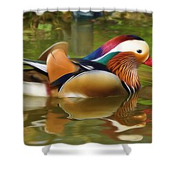 Beauty In The Pond Shower Curtain by Ayse Deniz