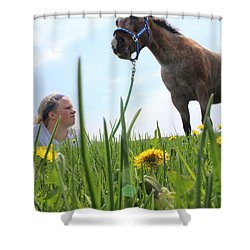 Beauty Shower Curtain by Tiffany Erdman