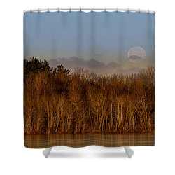Beaver Lake Shower Curtain by Everet Regal