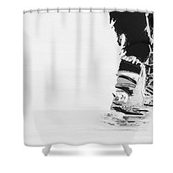 Becomes The Ice Shower Curtain by Karol Livote