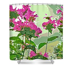 Bee Balm Shower Curtain by Jean Hall