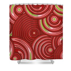 Beetroot Pink Abstract Shower Curtain by Frank Tschakert