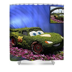 Before And After Sample Art 29 Floral Lightning Mcqueen Shower Curtain by Thomas Woolworth