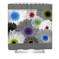 Behind Every Black And White Dream Theres A Rainbow Waiting To Be Seen Shower Curtain by Janice Westerberg