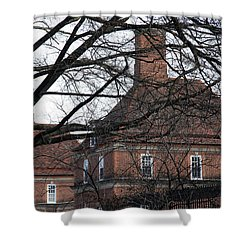 The British Ambassador's Residence Behind Trees Shower Curtain by Cora Wandel