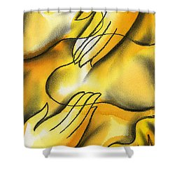Belief Shower Curtain by Leon Zernitsky