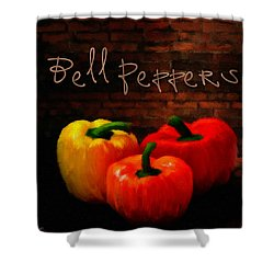 Bell Peppers II Shower Curtain by Lourry Legarde