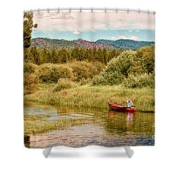 Bend/sunriver Thousand Trails Shower Curtain by Bob and Nadine Johnston