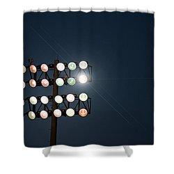 Beneath Friday Night Lights Shower Curtain by Trish Mistric