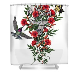 Beneath Summer's Promise Shower Curtain by Pat Erickson