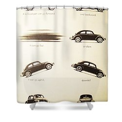 Benefits Of A Volkwagen Shower Curtain by Georgia Fowler