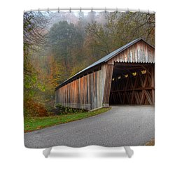 Bennett Mill Covered Bridge Shower Curtain by Jack R Perry