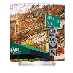 Best Little Town In Oregon Shower Curtain by Kris Hiemstra