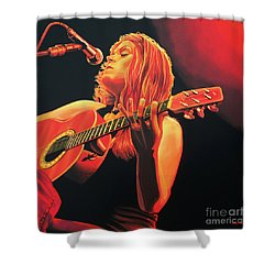 Beth Hart  Shower Curtain by Paul Meijering