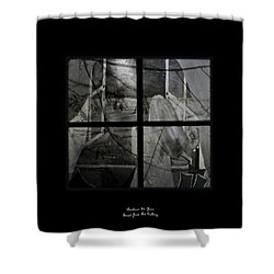 Between The Frames Shower Curtain by Barbara St Jean