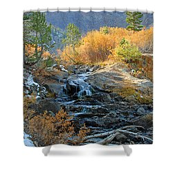Between The Virginias Shower Curtain by Lynn Bauer