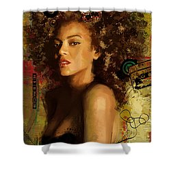 Beyonce Shower Curtain by Corporate Art Task Force