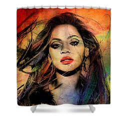 Beyonce Shower Curtain by Mark Ashkenazi