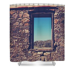 Beyond These Walls Shower Curtain by Laurie Search