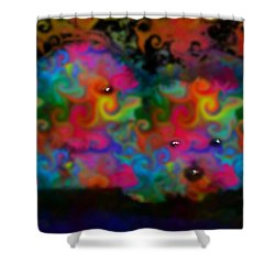 Bichons Shower Curtain by Marcello Cicchini