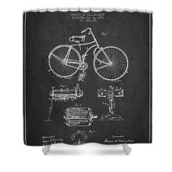 Bicycle Patent Drawing From 1891 Shower Curtain by Aged Pixel